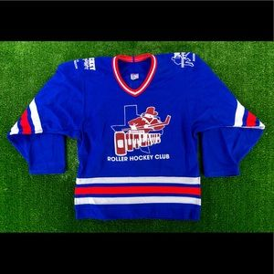Rare Vtg 90's CCM Austin Outlaws #33 Roller Hockey
